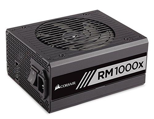 Corsair RM1000x Alimentatore PC, Completamente Modulare, 80 Plus Gold, 1000 Watt, EU, Serie RMX, Nero