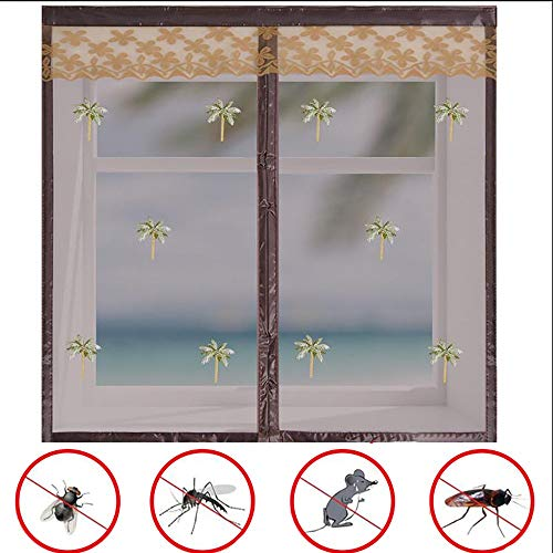Doors Mosquitera Ventana Magnetica, Anti Mosquitos Pegajoso Cortina para Prevenir Mosquitos y...