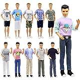 ZITA ELEMENT 5 Set Mode Uniform Puppen Kleidung Outfit für Männer Junge 11,5 inch Girl Doll Boy Friend Freizeitkleidung Oberteil Jacke Hosen Zubehör -