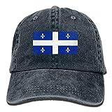 Wdskbg Drapeau du Québec - Casquettes de Baseball Ajustables Unisexe - Denim - Chapeaux - Cowboy - Sport - Extérieur - Unisexe6