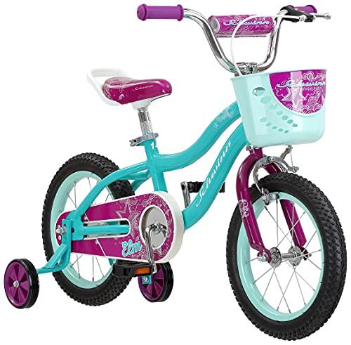 Schwinn Elm Girls Bike for Toddlers and Kids, 14-Inch Wheels, Teal