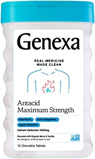 Sponsored Ad - Genexa Antacid Maximum Strength – 72 Tablets | Calcium Carbonate Antacid, Non-GMO & Certified Gluten-Free |...
