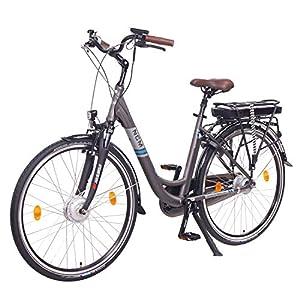 """NCM Munich Bicicletta elettrica da città (28"""" Grigia)"""