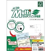 ヒサゴ マルチプリンタ帳票FSC A4白紙2穴 (100枚) FSC2001