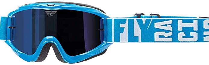 Fly Racing men's Zone Turret Goggle w/Blue Mirror/Smoke Lens, One Size