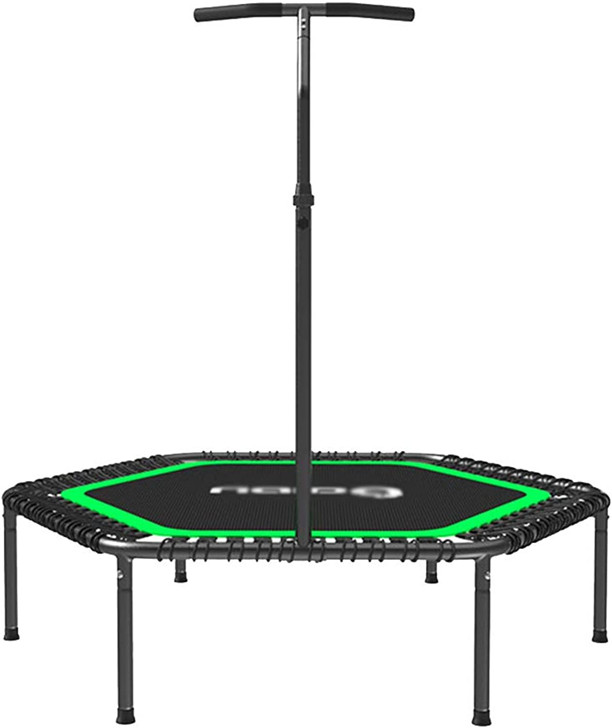 Trampolines With Adjustable Handrail, Adult Gym Household Yoga Indoor Lose Weight Bouncing Bed
