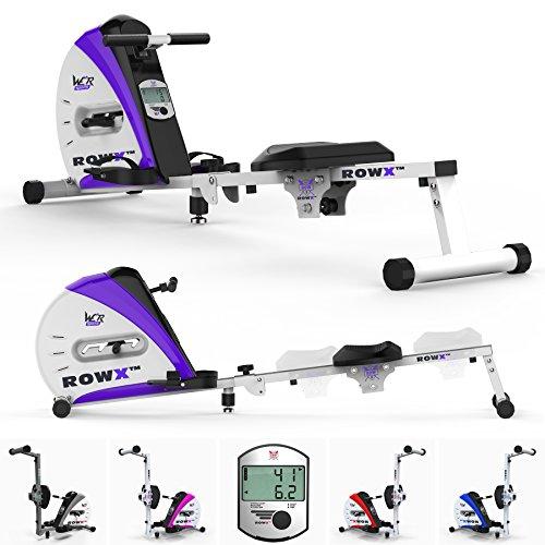 We R Sports Prime Aviron Machine Corps Tonner Maison Rameur Aptitude Cardio Faire du Sport Poids Perte (Violet)