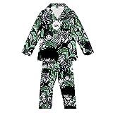 Pijamas,My Hero Academia Loungewear Set Ropa De Dormir Unisex para Hombres Ropa De Dormir Cómoda De Manga Larga con Botones Mezcla De Colores L