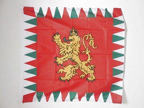 AZ FLAG Flagge KÖNIGLICHE STANDARTE VON BULGARIEN 1908-1940 90x90cm - BULGARISCHE Fahne 90 x 90 cm Scheide für Mast - flaggen Top Qualität