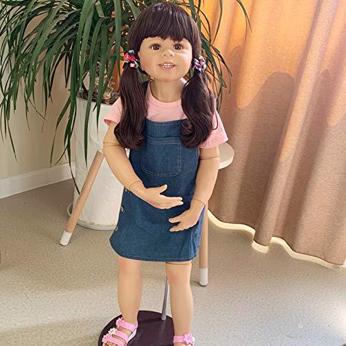 98 cm 3 Jahre Altes Mädchen Baby Größe Simulation Puppe Ganzkörper Silikon Inteiro Reborn Kleinkind Bonecas Kinderbekleidung Modell Spielzeug