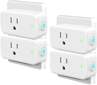 Smart Plug 4 Pack, Woostar Wifi Plug Outlet Compatible with Amazon Alexa, Google Home, IFTTT, Wifi Socket Remote Controls Your Devices from Anywhere by Phone, No Hub Required