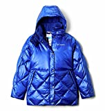 Columbia Youth Girls Forest Park Down Hooded Puffer, Lapis Blue High Gloss, Large