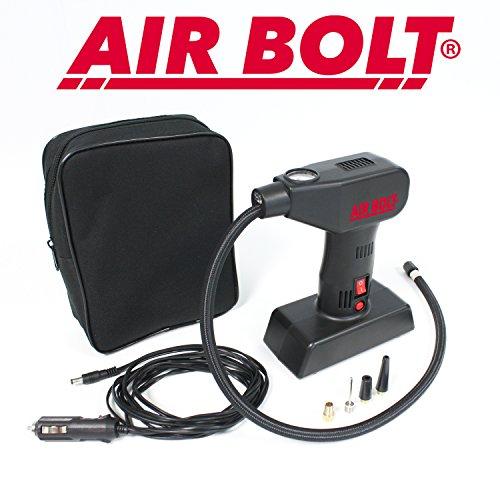 AIR BOLT - Compresseur d'air Compact – Regonflez Vos pneus de Voiture, de vélo, de brouette et Vos Jouets de Piscine