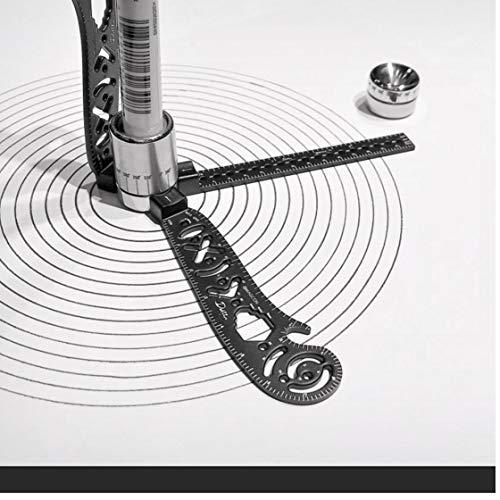 PiniceCore Zeichnung, Lineal, Multi-Funktions-magnetisches Werkzeug Minischlüssel-beweglichen Edelstahl-Versatile Mess Flaschenöffner für EDC