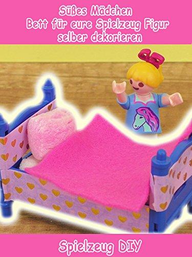 Clip: Süßes Mädchen Bett für eure Spielzeug Figur selber dekorieren - Spielzeug DIY