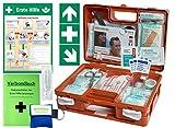 Erste-Hilfe-Koffer Quick -Komplettpaket- mit'Notfallbeatmungshilfe' für Betriebe DIN/EN 13157 + DIN...