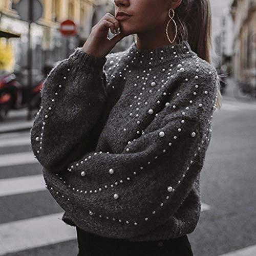 TFDGH Sweater Winter Coltrui Sweater Warm Sleeve Vrouwen Jumper Vrouw Losse Grijze Pullover Pull Gebreid