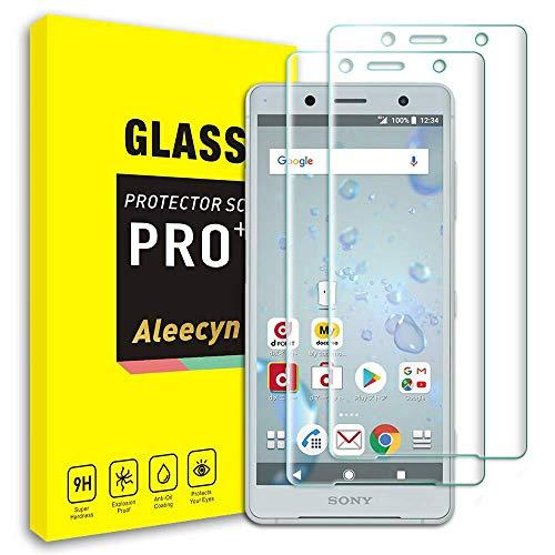 ALEECYN Displayschutzfolie kompatibel mit Sony Xperia XZ2 Compact [2 Pack], gehärtetes Glas Display, 3D Curved Schutzfolie und 9H Härte, kristallklar, kratzfest für Xperia XZ2 Compact
