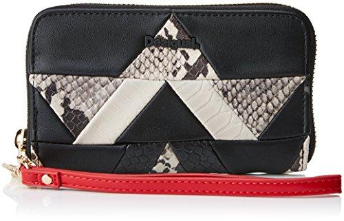 Desigual Mone_snake Patch Mini Zip, Portefeuilles femme, Schwarz (Negro), 2x9x15 cm (B x H T)