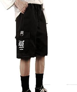 westtrend Pantalones Cortos Unisex de Anime Naruto Mono Sharingan Pantalones de chándal Sueltos de Ocio Pantalones Cortos ...