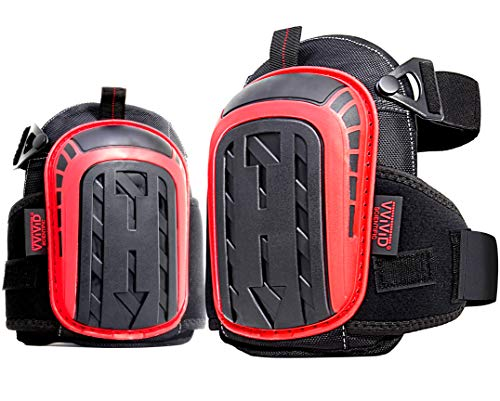 VViViD Heavy-Duty Gel Cushioned Double Strapped Knee Pad Set (Industrial Grade)