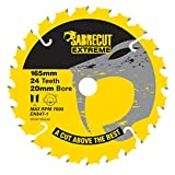 1 hoja de sierra circular inalámbrica SCCSF165CL24 SabreCut de 165 mm, 24 T x 20 mm, compatible con Dewalt Bosch Makita y muchos otros