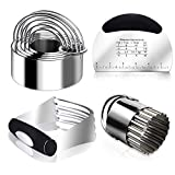 🍪【BELIEVE IN YOUR CHOICE 】Are you still wondering what kind of biscuit cutters to choose? Cookie cutters,dough blender,wavy cutter and pastry scraper,combination of 4 tools. The Must-have for Baking and Kitchen,your ideal first choice. 🍪【STAINLESS ST...