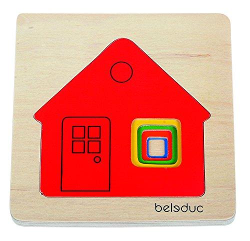 Beleduc - 10141 - Puzzle À Superposition En Bois - Maison