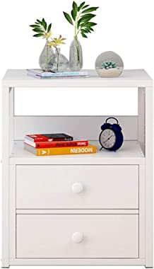 AINIYF Wooden Bedside Table with Drawer Storage Box Nightstand Bedroom Bedside Table Side Table End Table for Living Room (Color : F)