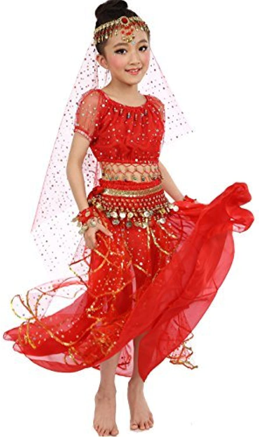 Astage Big Girls` Belly Dance Carnival Dancing Dress Red SM by Astage