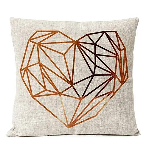SHASO Copper Gold Geometric Mas Kissenbezug Deer Linen Kissenbezug Home Decorative Throw Pillows Sofa Kissenbezüge Dickes Leinen C 45X45Cm