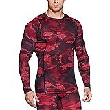 (テスラ)TESLA 長袖 スポーツ コンプレッション シャツ [UVカット・吸汗速乾] コンプレッションウェア ランニングウェア スポーツシャツ 加圧 冷感インナー MUD31-WRD_L