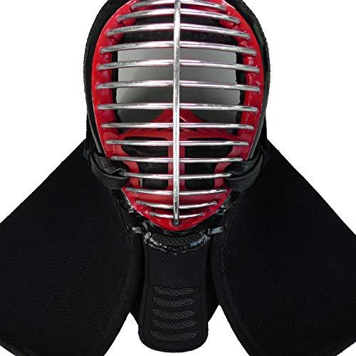 3D 面マスク ホルダー (面金14本用) 剣道 飛沫防止 抗菌仕様 全剣連推奨面マスク準拠 高通気性 日本製 (赤)