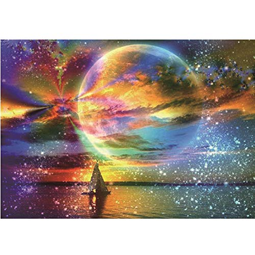 DIY 5D Diamond Painting Full Square Drill Kits for Adults 40x60cm(15.8'x23.6') Starry Sky Crystal Rhinestone Embroidery Pictures Arts Craft for Home Wall Decor Gift