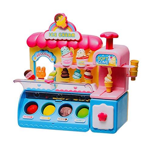 LYY Spaß Interaktiv Mädchen Überseas Home Spielzeug Kinder Eiszeug Spielzeug Eismaschine Mädchen Geschenk 3-6 Jahre alt Spaß Spielzeug (frei von Batterie) Die Beste Wahl für Kinder