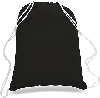 Sponsored Ad - (12 Pack) 1 Dozen- Durable Cotton Drawstring Tote Bags (Black)