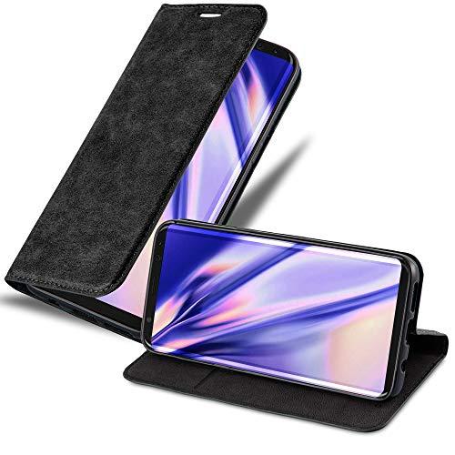 Cadorabo Funda Libro para Samsung Galaxy S8 en Negro Antracita – Cubierta Proteccíon con Cierre Magnético, Tarjetero y Función de Suporte – Etui Case Cover Carcasa