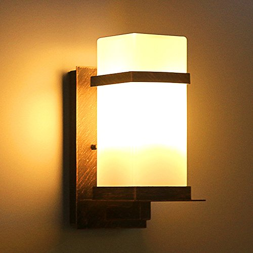 Modeen Simple Mini Place Extérieur Mur Applique Lanterne Minimaliste Étanche Intérieur Extérieur Applique Lampe En Aluminium Applique Murale En Métal Pour Allée Salon Terrasse Balcon Patio Pelouse Déc