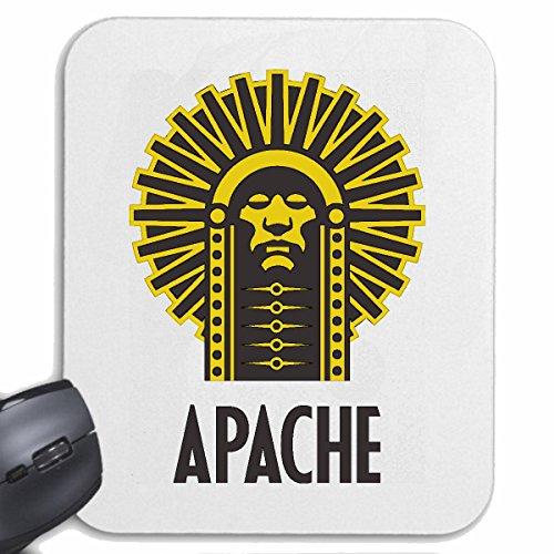 Reifen-Markt Mousepad (Mauspad) Indianer HÄUPTLING Apache Indianer INDIANERGESICHT INDIANERSTAMM INDIANERSCHMUCK INDIANERPERÜCKE für ihren Laptop, Notebook oder Internet PC (mit Windows Linux usw.) i