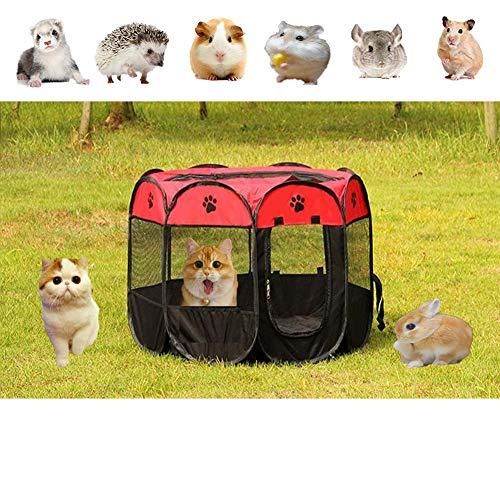 Bingoo Laufgitter für Haustiere, tragbar, faltbar, für den Innen- und Außenbereich, Netz-Abdeckung, für Meerschweinchen, Kaninchen, Rennmäuse, Ratten