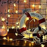 Guirlandes lumineuses étoiles, 7,5 m 50 LED guirlandes lumineuses alimentées par piles, Fée étoiles, pour mariage, chambre de...
