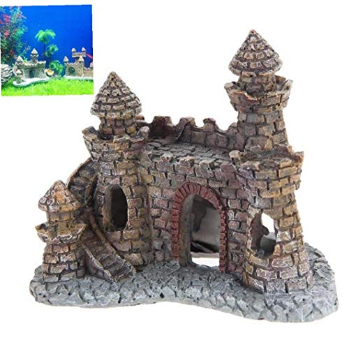 Resin Ornament Cartoon Castle Aquariums Castle Tower Garden Statue Fish Tank Aquarium Decor