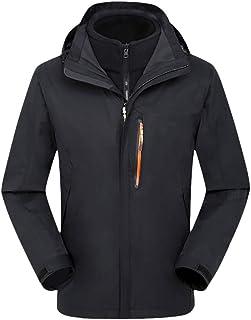 LOPILY Men's Raglan Jackets Solid Color Full Zip Jacket Coat Waterproof Coat Long Sleeve Active Outdoor Windproof Overcoat...