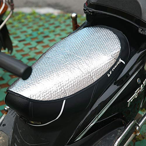 Pink Pari 2 pc Sun Shade Bike Seat Cover for Two Wheelers (Silver)