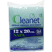 Cleanet: esponja jabonosa desechable napa 12x20cm 90grs. 10 paquetes x 24 unidades - Gestión Amazon