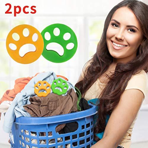 Idepet Tierhaarentferner für Laundry 2PCS, Waschmaschine Tierhaarfänger für Kleidung Bettwäsche, wiederverwendbarer Reinigungsball Schwimmender Waschtrockner Schwimmender Ball