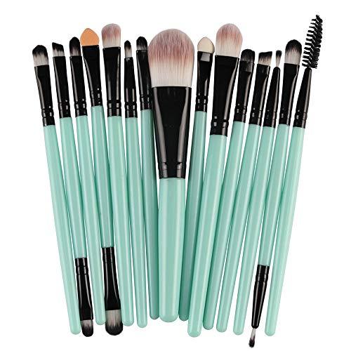 L.L.QYL Brosses Kit de Maquillage pour Outils de Maquillage Pro Makeup Poudre de Fard à paupières Ombre à paupières Pinceau à lèvre en Poils Souples en Fibre (15 pcs) Maquillage pour Les Femmes