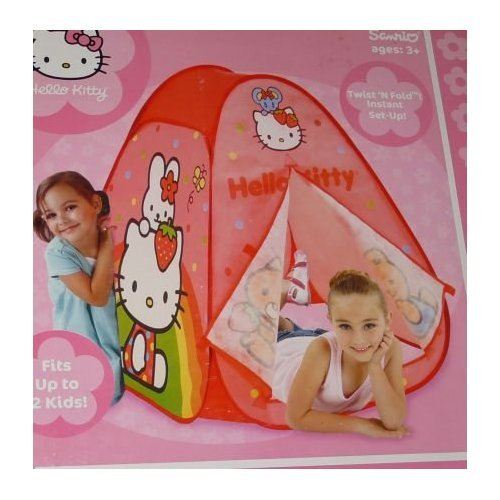 Hello Kitty Hideaway - Mini tienda de tela para niños, 76 x 91 x 76 cm