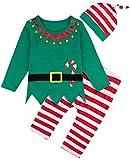 MOMBEBE COSLAND Disfraz Duende de Navidad Bebé Niños Conjuntos (0-6...
