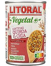 LITORAL Super Alimentos Plato Preparado de Lentejas, Quinoa y Chía, Sin Gluten, 415g